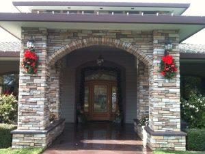 Beautifully decorated front door